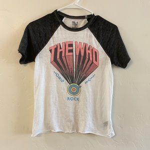 The Who White Graphic Baseball Style Tee Shirt XS